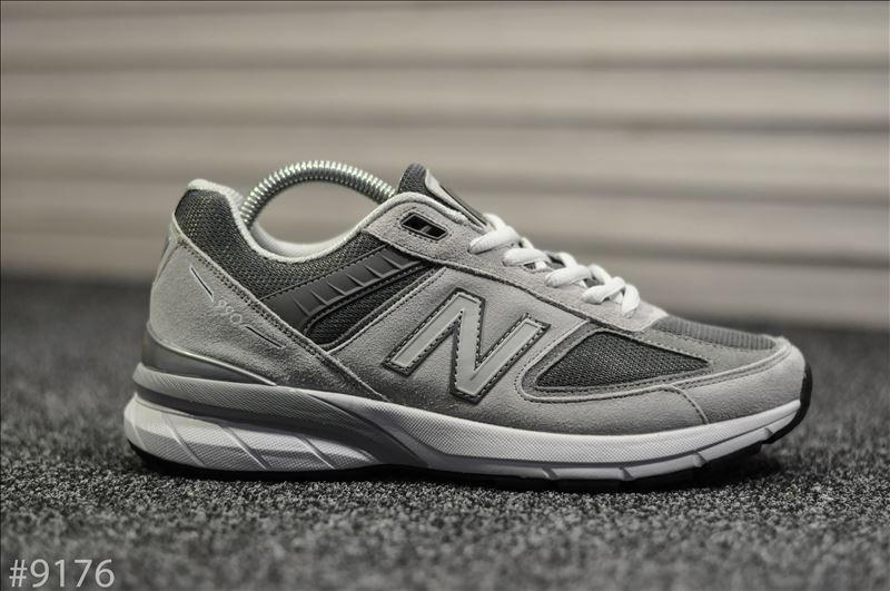 Мужские кроссовки New Balance 990 Light Gray Серые, Реплика