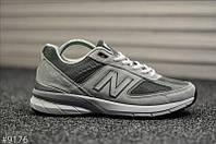 Чоловічі кросівки New Balance 990 Light Gray Сірі, Репліка, фото 1