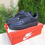 Жіночі кросівки в стилі Nike Air Force чорні, фото 3