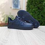 Жіночі кросівки в стилі Nike Air Force чорні, фото 6