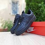 Жіночі кросівки в стилі Nike Air Force чорні, фото 8
