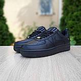 Жіночі кросівки в стилі Nike Air Force чорні, фото 10