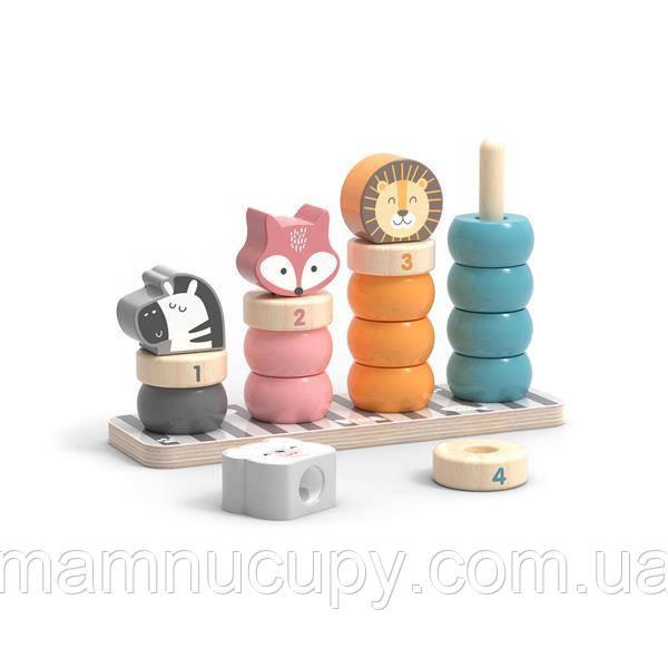 Деревянный сортер-пирамидка Viga Toys PolarB Зверята (44022)