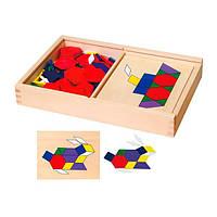 Обучающий набор Viga Toys Мозаика с шаблонами (50029)