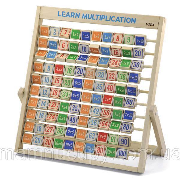 Деревянная игрушка Viga Toys Изучаем умножение (50036)