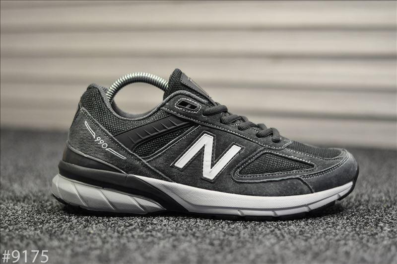 Чоловічі кросівки New Balance 990 Dark Gray Сірі, Репліка