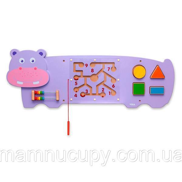 Бизиборд Viga Toys Бегемотик (50470)