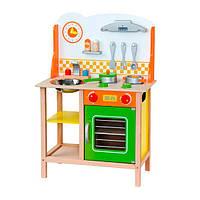 Детская кухня Viga Toys из дерева с посудой (50957)