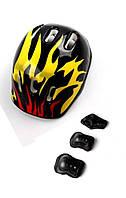 Шлем + защита для роликов , скейта, велосипеда