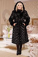 Женская шуба  М-102 черная норка 48-58 размеры