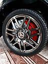 Дитячий електромобіль Джип Mercedes-Benz GLC 63S Coupe, Шкіряне сидіння, Автопокраска, чорний, фото 6