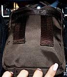 Текстильные маленькие барсетки через плечо на три отделения на молнии 13*16 см, фото 3