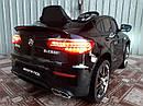 Дитячий електромобіль Джип Mercedes-Benz GLC 63S Coupe, Шкіряне сидіння, Автопокраска, чорний, фото 3