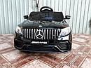 Дитячий електромобіль Джип Mercedes-Benz GLC 63S Coupe, Шкіряне сидіння, Автопокраска, чорний, фото 5