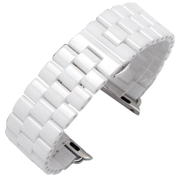 Ремешок Apple watch Керамический 42/44 mm Белый