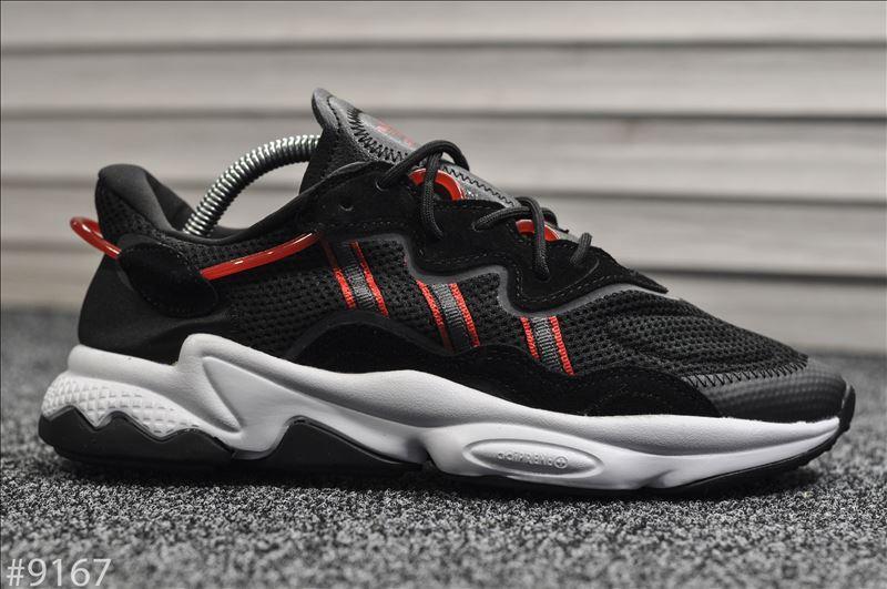 Чоловічі кросівки Adidas Ozweego Black Red White Чорні, Репліка