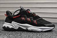 Чоловічі кросівки Adidas Ozweego Black Red White Чорні, Репліка, фото 1