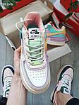 Женские кроссовки Nike Air Force 1 low (фиолетово-белые) KS 1502, фото 3