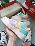 Женские кроссовки Nike Air Force 1 low (фиолетово-белые) KS 1502, фото 2