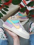 Женские кроссовки Nike Air Force 1 low (фиолетово-белые) KS 1502, фото 5
