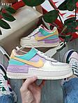 Женские кроссовки Nike Air Force 1 low (фиолетово-белые) KS 1502, фото 4