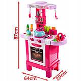 Дитяча ігрова Кухня 008-939 Малинова. Висота 87 см світло, звук, посуд, продукти, фото 2