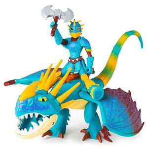 Как приручить дракона: набор из дракона Громгильды в боевом окрасе и всадника Астрид SM66621/7410 Spin Master