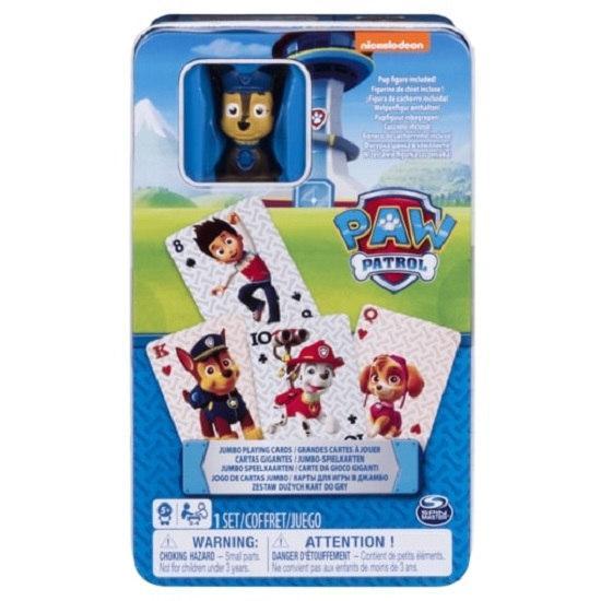 Игра карточная с фигуркой Щенячий патруль (в жестяной коробке) Spin Master
