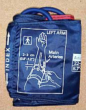 Манжета INDEX (синя) нейлонова для дорослих з кільцем. Окружність руки від 22 до 32 див. на 1 трубку