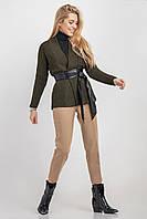Кардиган вільного, трохи розширює силуету виконаний з сумішевої пряжі з додаванням вовни і мохеру.