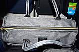 Женская синяя дорожная сумка на молнии с двумя ручками и ремешком 50*30 см, фото 3