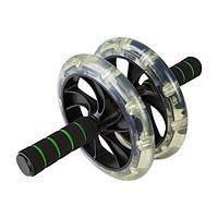 Ролик для преса D200mm 2 колеса (прозорі колеса)