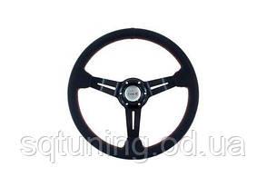 Спортивный руль Pro 350мм - Вынос: 60мм Кожа Черный