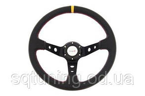 Спортивный руль Pro 350мм - Вынос: 80мм Кожа Черный