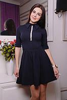 Милое женское платье IR Блеск цвета: темносиний | алый | электрик | бежевый | розовый | чёрный