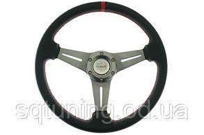 Спортивный руль Pro 350мм - Вынос: 20мм Карбон Красный
