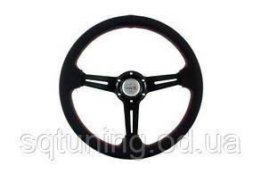 Спортивный руль Pro 350мм - Вынос: 40мм Кожа Черный