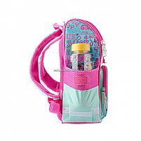 Рюкзак шкільний каркасний SMART Бірюзовий з рожевим (558052), фото 2