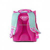 Рюкзак шкільний каркасний SMART Бірюзовий з рожевим (558052), фото 4