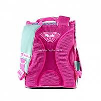 Рюкзак шкільний каркасний SMART Бірюзовий з рожевим (558052), фото 5