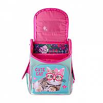 Рюкзак шкільний каркасний SMART Бірюзовий з рожевим (558052), фото 6