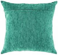 Обратная сторона подушки, бирюза