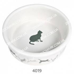 Миска керамика с кошкой, 0.25л Трикси 4019 миска керамика с кошкой, Трикси 4019