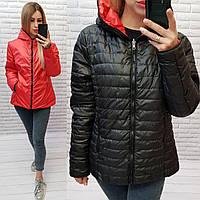 Куртка двусторонняя женская, арт.185, цвет - красный/черный