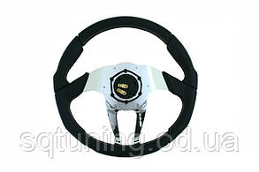 Спортивный руль Pro 350мм - Вынос: 0мм Кожа Черный