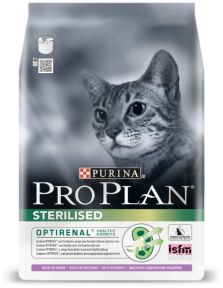 PRO PLAN Sterilised для стерилизованных кошек с лососем и рисом 1,5 кг