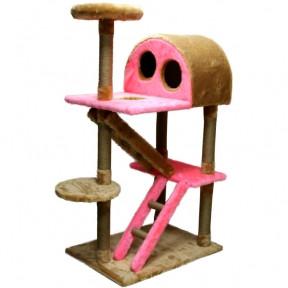 Когтеточка Версаль,  джутовая 704050 Серо-розовая