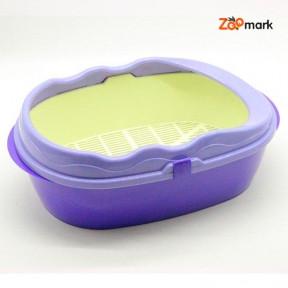 Туалет глубокий с бортом и сеткой Фиолетовый 400300150 мм