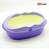 Туалет глубокий с бортом и сеткой Фиолетовый 400300150 мм, фото 2