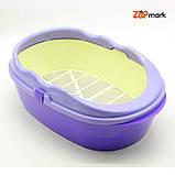 Туалет глубокий с бортом и сеткой Фиолетовый 400300150 мм, фото 5